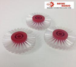 Cepillo limpiar cantos,disco rojo,pelo blanco ancho recto(1)