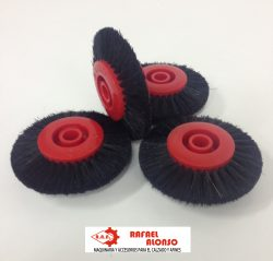 Cepillo limpiar cantos,disco rojo,pelo negro estrecho convergente(2)