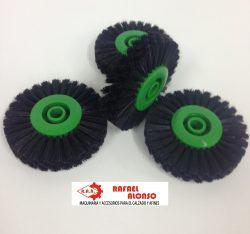 Cepillo limpiar cantos,disco verde, pelo negro ancho recto (2)