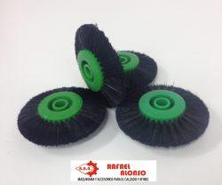 Cepillo limpiar cantos,disco verde,pelo negro estrecho convergente(2)