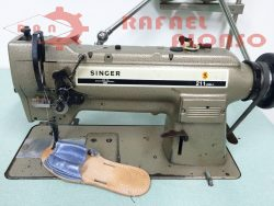 Máquina coser triple arrastre SINGER 211 (2)