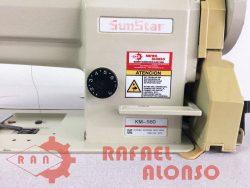 Máq.coser triple arrastre SUNSTAR K-M560 4